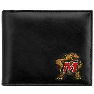 Maryland Terrapins Black Leather Embroidered Billfold