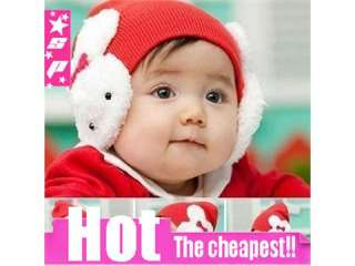 Cute Babys Wool Hats Protect Ears Rabbit Caps High Quality Free