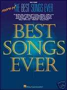 MORE OF THE BEST SONGS EVER EASY PIANO SHEET MUSIC BOOK
