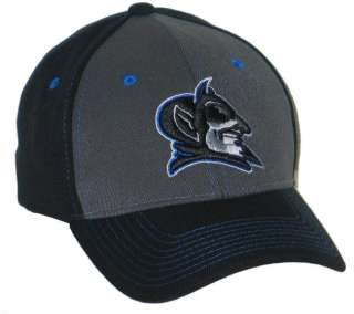 DUKE BLUE DEVILS BLACK KNOCKOUT FLEX FIT FITTED HAT/CAP XL NEW