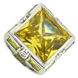 Square Citrine Ring Jewelry