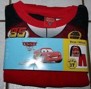 Disney Pixar CARS 2 Piece Red Flannel Sleepwear Set ~Inf & Tod Sizes