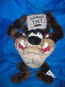 Looney Tunes TAZ Tasmanian Devil Box of TNT 1998 Plush