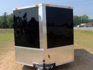 enclosed cargo motorcycle 2 bike trailer 7x10 finished ramp and side