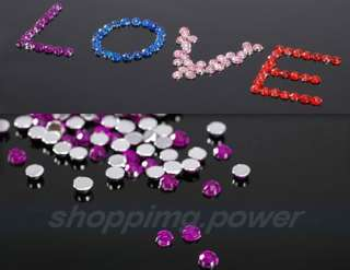 1200 x Multi color Rhinestones Gems Nail Art Sticker
