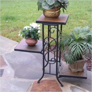 4D Concepts 3 Tier Plant Stand w/ Slate Top 601608 649423616186