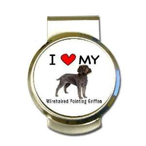 I Love My Wirehaired Pointing Griffon Money Clip: Office