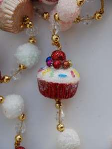 NEW Cupcake Garland Kitchen Candy Peppermint Kisses