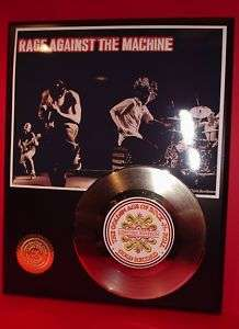 RAGE AGAINST THE MACHINE GOLD RECORD LIMITED EDITION