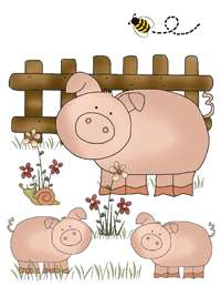 FARM BARNYARD ANIMALS BABY NURSERY WALL STICKERS DECALS