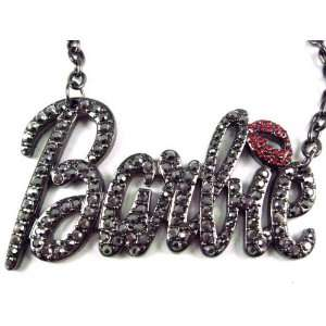 NEW NICKI MINAJ BARBIE Pendant w/18 Chain Black Lg Jewelry