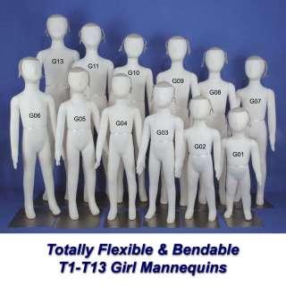 New K13 Totally Flexible & Bendable Kid Mannequin