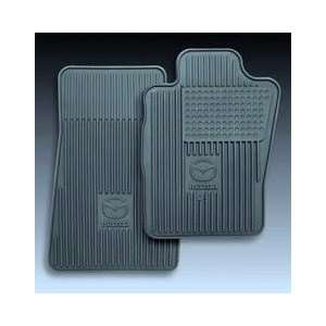 NEW OEM BLACK ALL WEATHER VINYL FLOOR MATS 2001 04 MAZDA TRIBUTE #0000