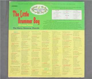 33 Vintage LP Little Drummer Boy Harry Simeone Chorale