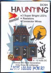Dollhouse 12v 5mm Haunted House or Welding Lighting Kit