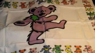 GRATEFUL DEAD BEAR PILLOW CASE standard teddy purple 100% cotton Jerry
