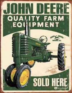 Metal Sign Farm Tractor John Deere Sold Here NEW