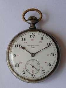 RRR Antique military Lip Chronometer pocket watch c1890s