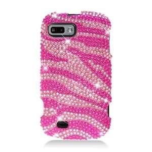 Fury N850   Pink Zebra Bling Hard Case Protector Cover + Lf Stylus Pen