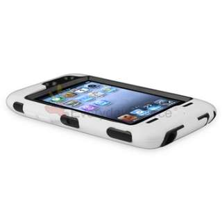 WHITE 3PIECE HARD CASE COVER SKIN FOR IPOD TOUCH 4 4G+PRIVACY FILTER