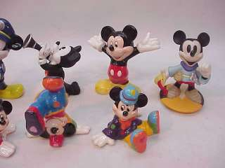MICKEY MOUSE DISNEY FIGURINES LOT~POLICEMAN ARTIST etc