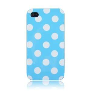 Baby Blue Polka Dot Flex Gel Case + Random Color Pouch for
