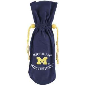 Michigan Wolverines Navy Blue Wine Bottle Bag  Sports