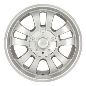 18 Inch 18x8.5 Dip wheels D10 Silver w/ Machined Lip