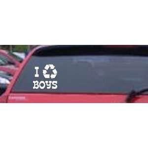 Boy pissing + bumper stickers