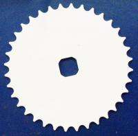 BLUE/WHITE BMX BIKE CHAIN RING BICYCLE PARTS 308