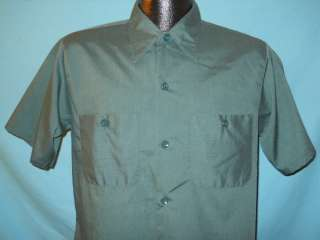 vtg 70S BIG MAC PENN PREST JC PENNEY GREEN WORK SHIRT M