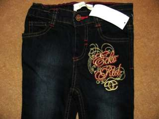 ECKO UNLTD Red Gold LOGO TEE Adjust Waist Jeans Set Outfit NWT Girls