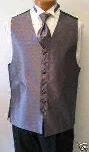 Light Purple Bill Blass Fullback Tuxedo Vest & Tie XL
