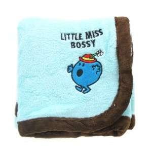 Lilttle Miss Bossy Baby Girl Children Fleece Plush Coral Blanket by Mr