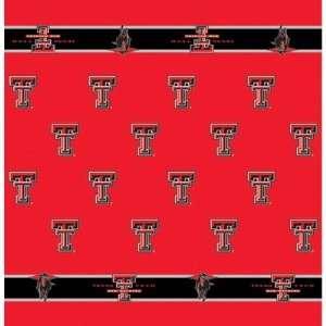 54 x 54 Collegiate Team Table Cloth Card Team Texas Tech