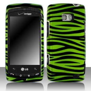 LG Ally VS740 Green/Black Zebra Hard Case Snap on Cover