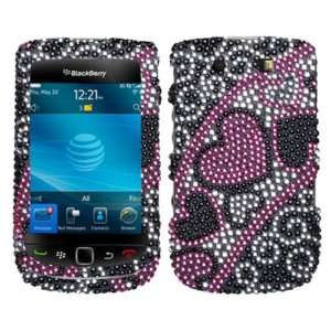 Blackberry Torch 4G 9800 9810 CRYSTAL DIAMOND BLING CASE COVER PINK