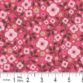 Wanna Be A CowBoy CowGirl Riley Blake Fabric Hot Pink Retro Daisy