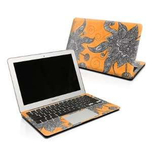 Orange Flowers Design Protector Skin Decal Sticker for