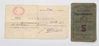1929 Estonia Manual SINGER Sewing Machine + Invoice