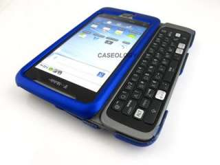 BLUE RUBBERIZED HARD SHELL SNAP ON CASE COVER HTC TMOBILE G2 PHONE