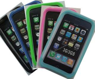 New 10x All Blue Color Silicon Case Apple iPhone 3G 3GS