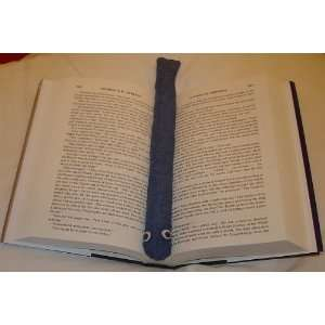 Blue Denim Booksnake: A Handmade Weighted Bookmark    the Perfect Gift