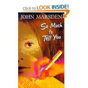 to Tell You (Walker Paperbacks) (9780744569346) John Marsden Books