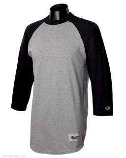 New Champion Mens Tagless Raglan Baseball T Shirt