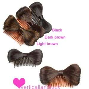 New Cute Bow Bowknot Wig Hair Clip Comb Fancy Dress