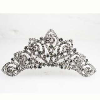 Swirls Swarovski Crystal Bridal Wedding Tiara Comb SNK