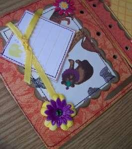 ADORABLE BABY BOY CHIPBOARD SCRAPBOOK ALBUM STITCHED