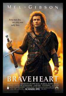 BRAVEHEART * 1SH DS ORIG MOVIE POSTER 1995 MEL GIBSON