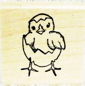 Northwoods Rubber Stamps Easter Spring Baby Hatching Chick Card Making